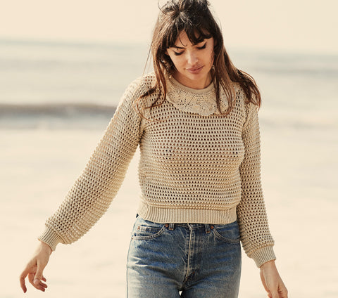 TALIA SWEATER -- ANTIQUE IVORY