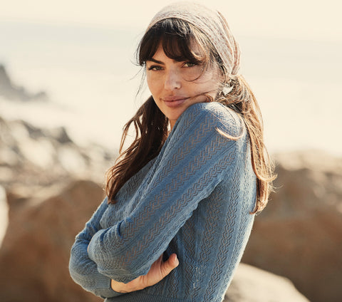 NORFOLK SWEATER -- FRENCH BLUE