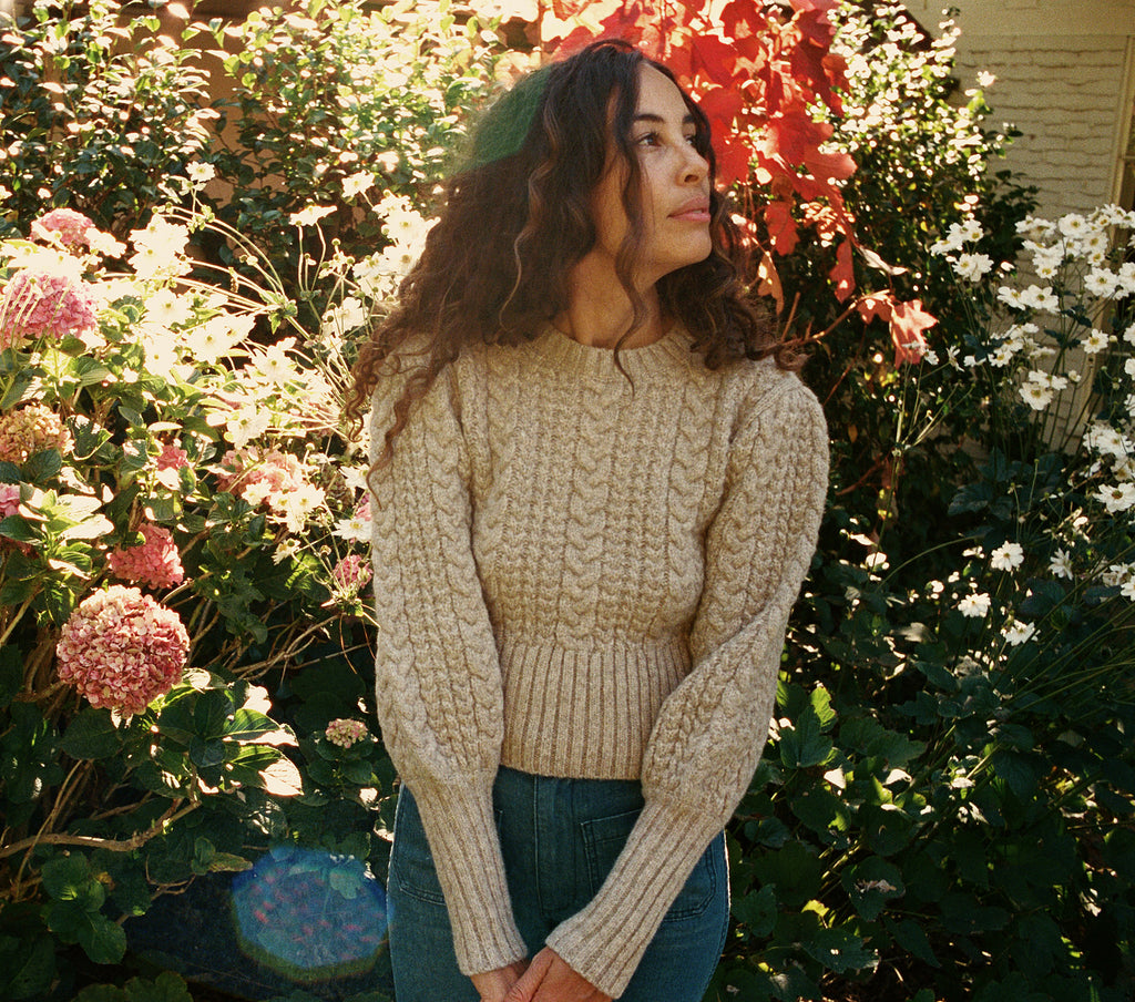 MULBERRY SWEATER -- DUNE