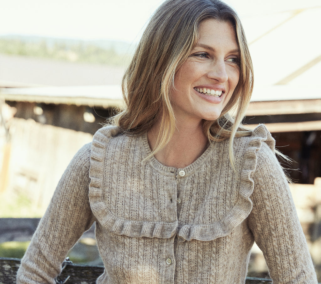 ALTHEDA SWEATER -- HEATHERED OATMEAL