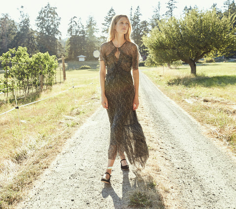 ANTOINETTE DRESS -- BLACK PRAIRIE PAISLEY