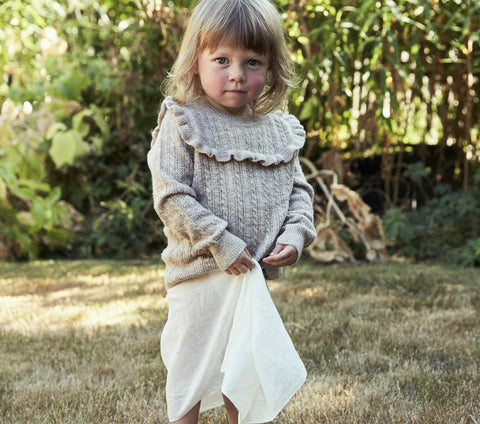 YEARLING BY DÔEN ATLAS SWEATER -- HEATHERED OATMEAL