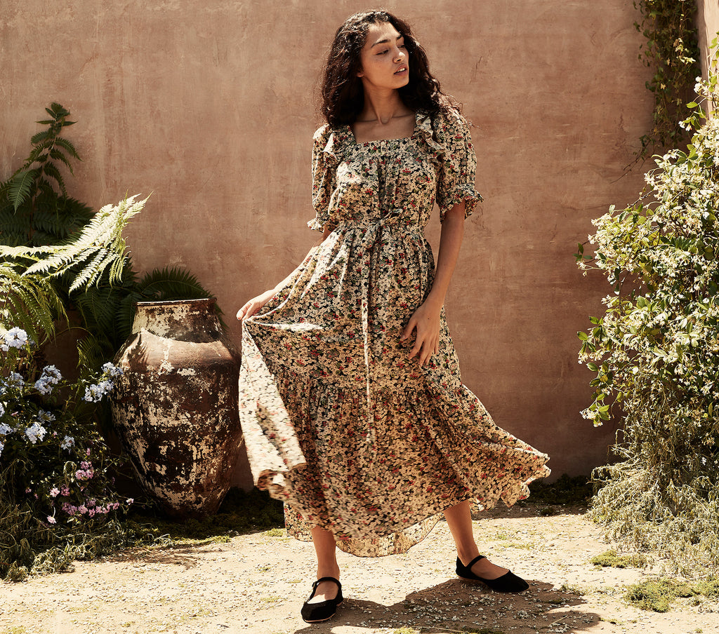 BRAMBLE DRESS -- SISSINGHURST FLORAL PRINT