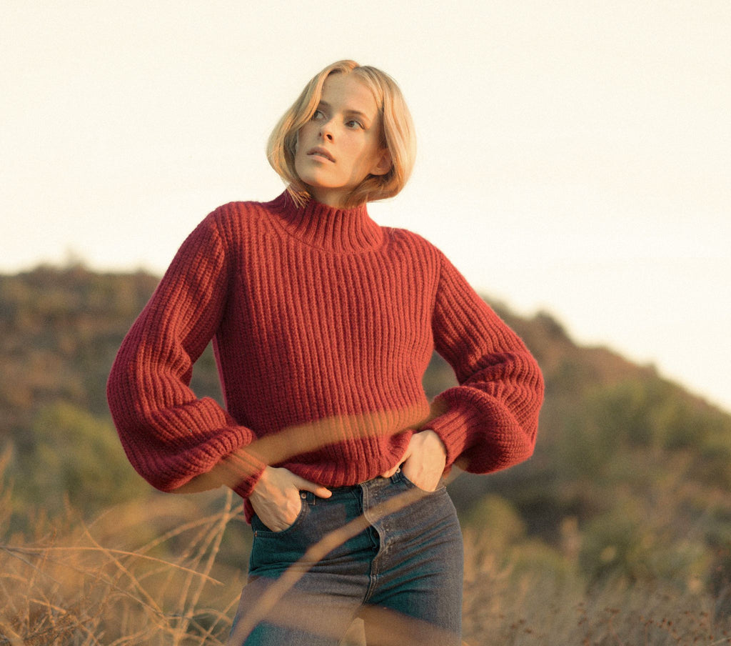 LULU SWEATER -- HOLLY BERRY