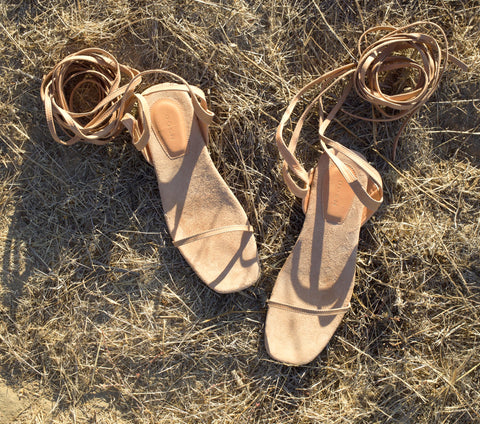 BASQUE SANDAL -- SALTILLO TAN CALF