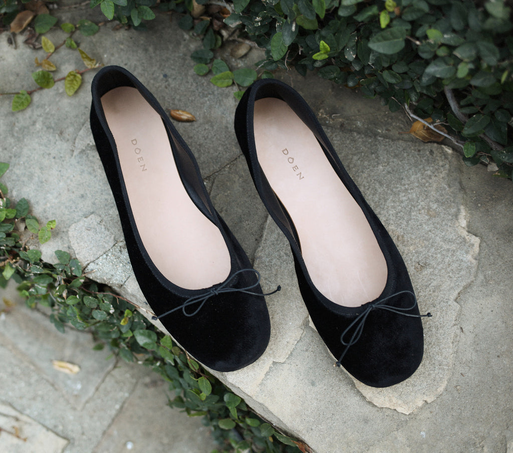 BALLERINA SLIPPER -- BLACK