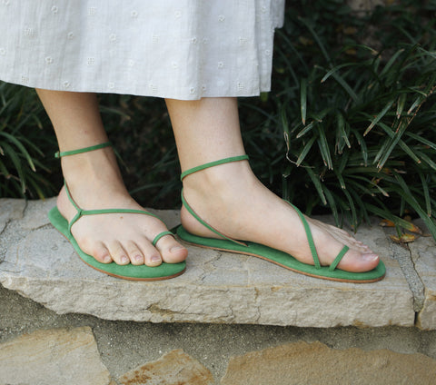BARE SANDAL -- JADE GREEN
