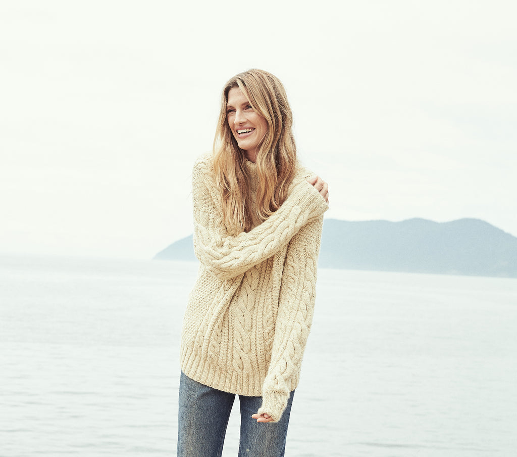 PERSIMMON SWEATER -- SAND