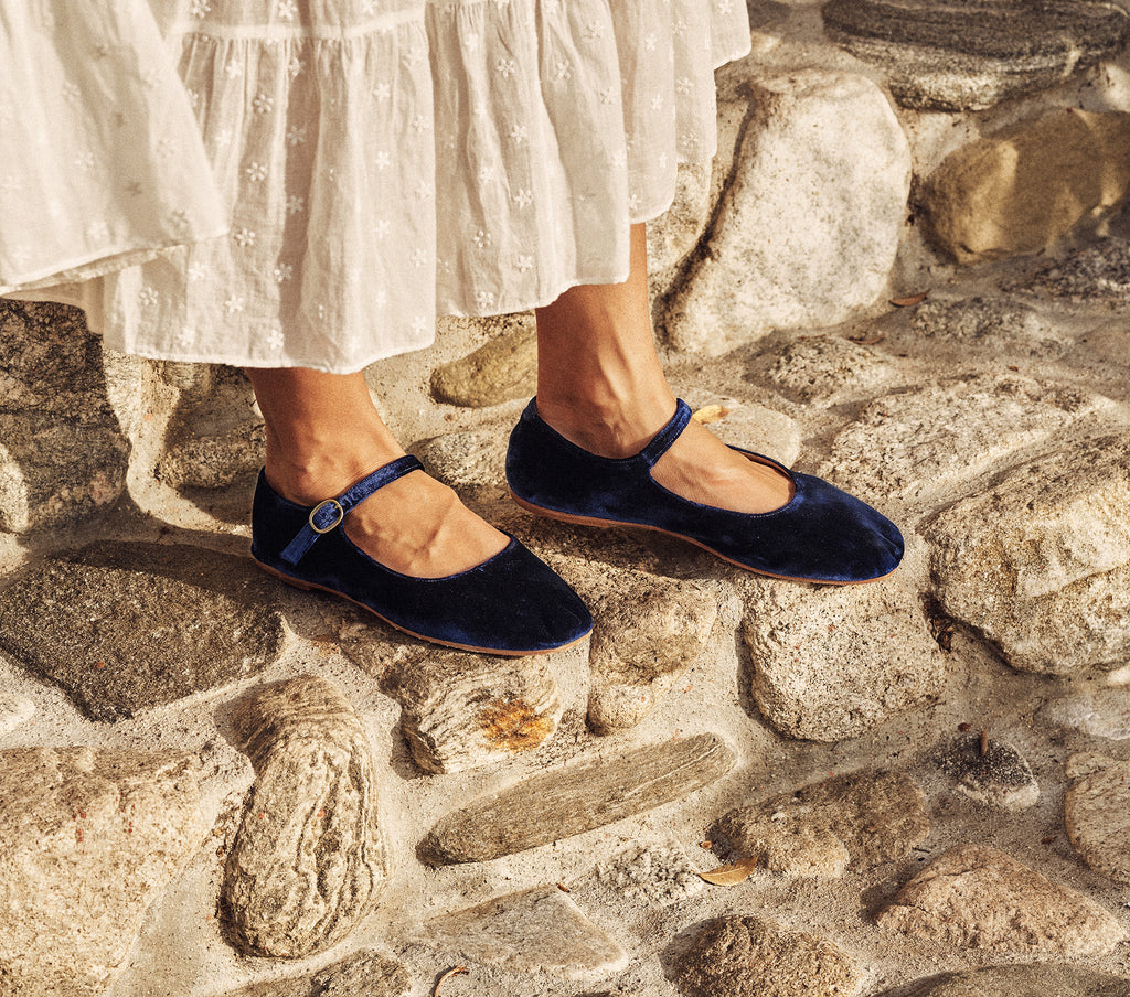 doen mary jane slipper sapphire blue velvet mary janes shoes slippers