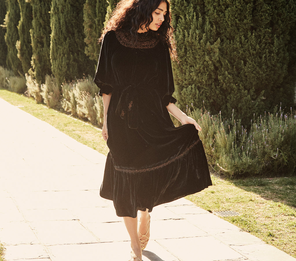 VIVIANA DRESS -- BLACK