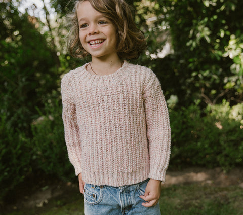 YEARLING BY DÔEN ALDER SWEATER -- PINK CLOUD