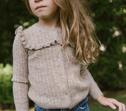 YEARLING BY DÔEN LIV SWEATER -- HEATHERED OATMEAL