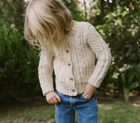 BRUNI CARDIGAN SWEATER -- MILKY WAY