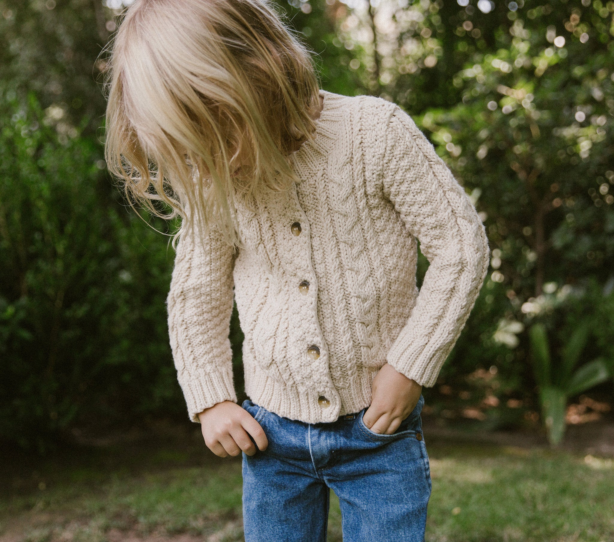 YEARLING BY DÔEN BRUNI CARDIGAN SWEATER -- MILKY WAY
