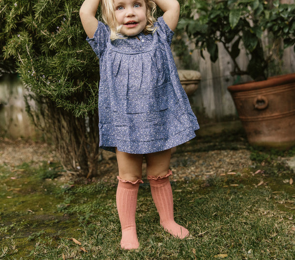 Swatches: Collégien Kids Knee High Ruffle Sock