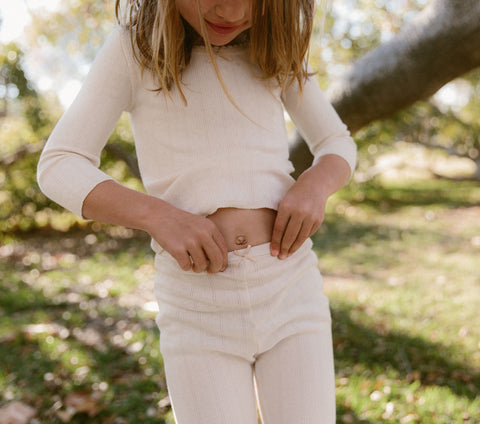 CHESNEE PANT -- IVORY BOW POINTELLE