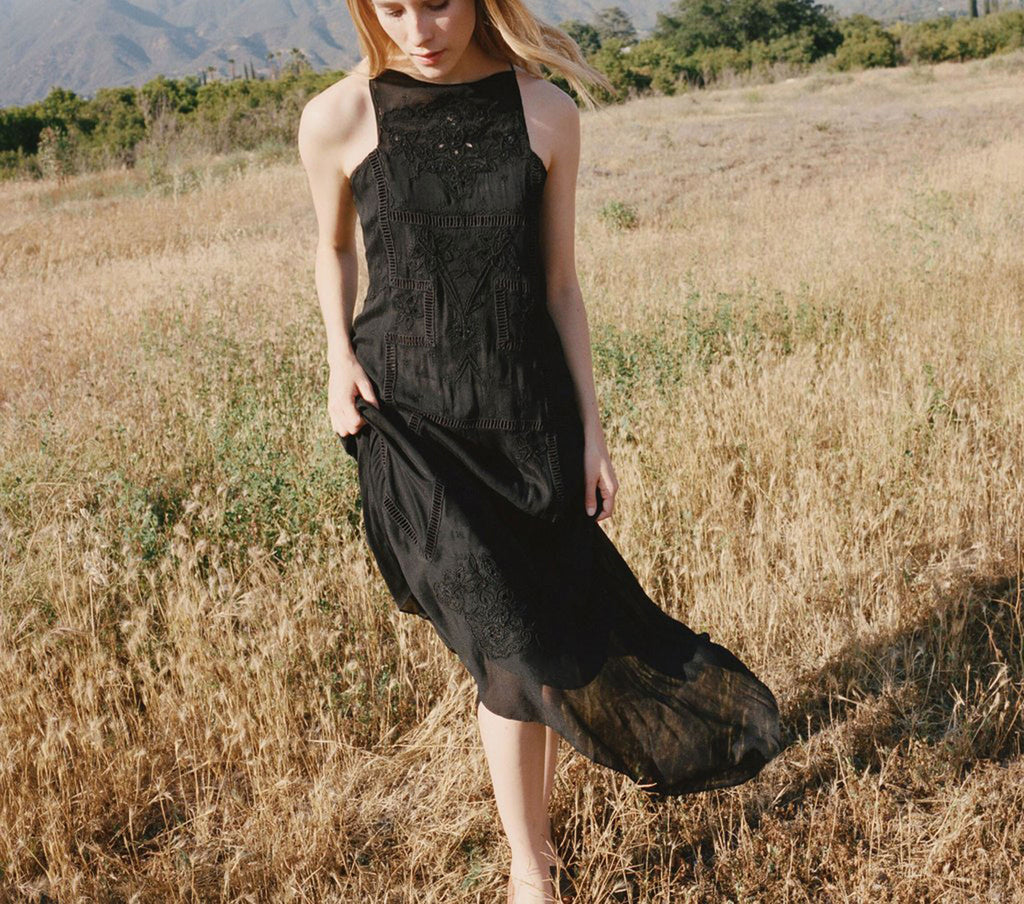 HANDKERCHIEF DRESS -- Black