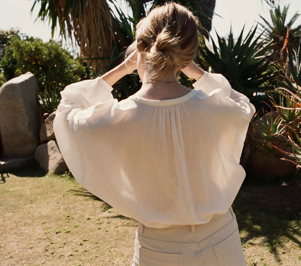 THE JANE BLOUSE -- SEASALT