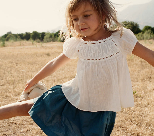 YEARLING BY DOEN MI AMOR MINI TOP -- WHITE