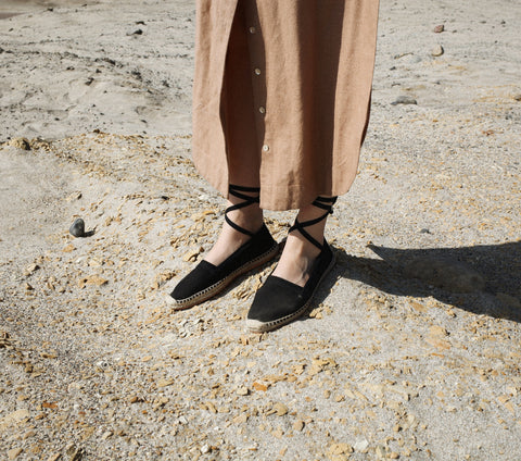 SALVADORE ESPADRILLES -- BLACK CANVAS