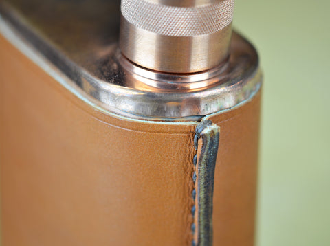 Hand Stitched Jacob Bromwell Flask