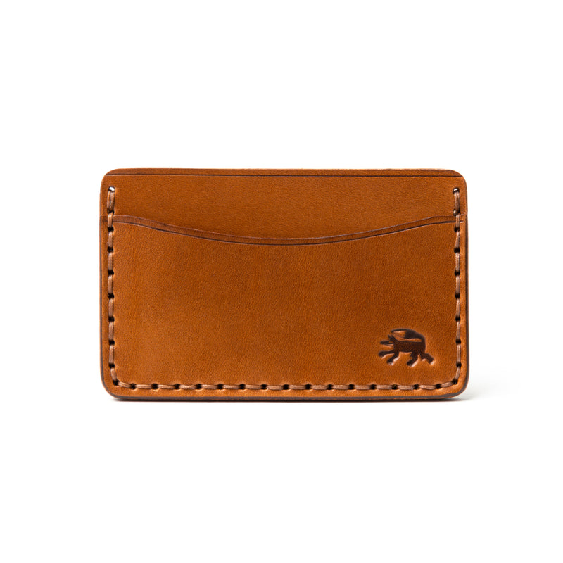 Hand Stitched Card Wallet - Buck Brown