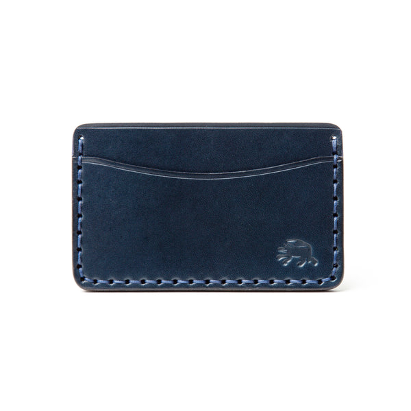 Hand Stitched Card Wallet - Navy