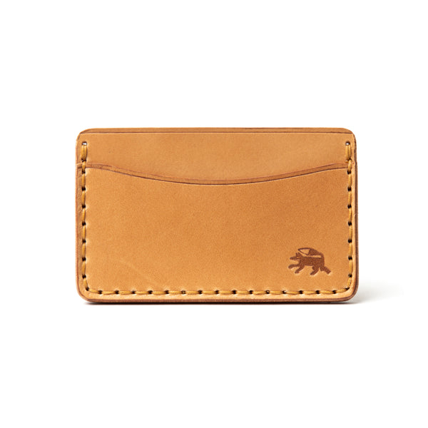 Hand Stitched Card Wallet - Russet