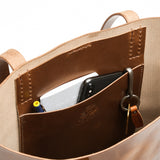 Utility Tote - Natural Pull Up