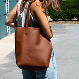 Utility Tote - Brown Supple Leather