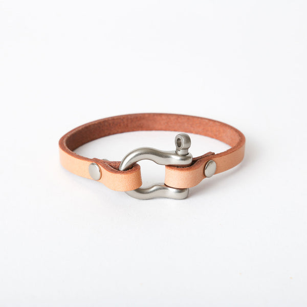 Natural Shackle Bracelet - Single