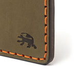 Hand Stitched 5 Pocket Wallet - Olive