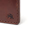 Hand Stitched Money Clip Wallet - Medium Brown