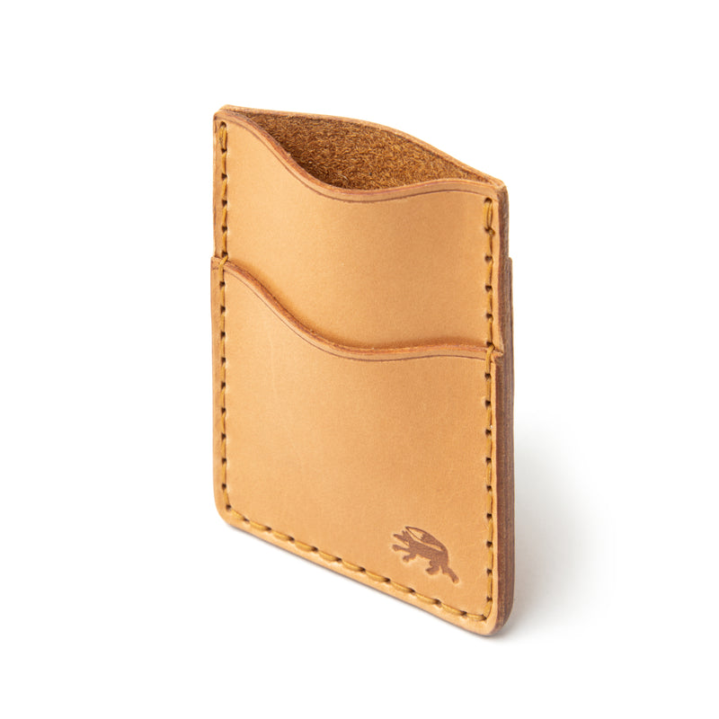Hand Stitched Money Clip Wallet - Russet