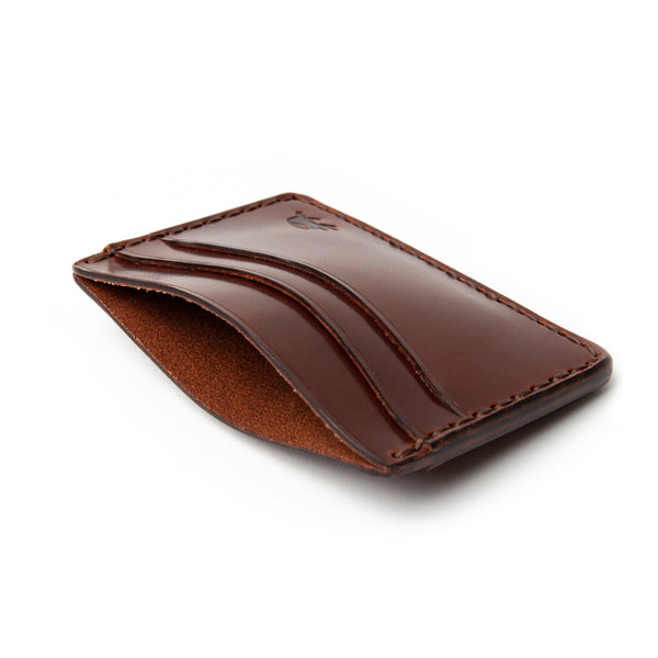 Hand Stitched 5 Pocket Wallet - Medium Brown