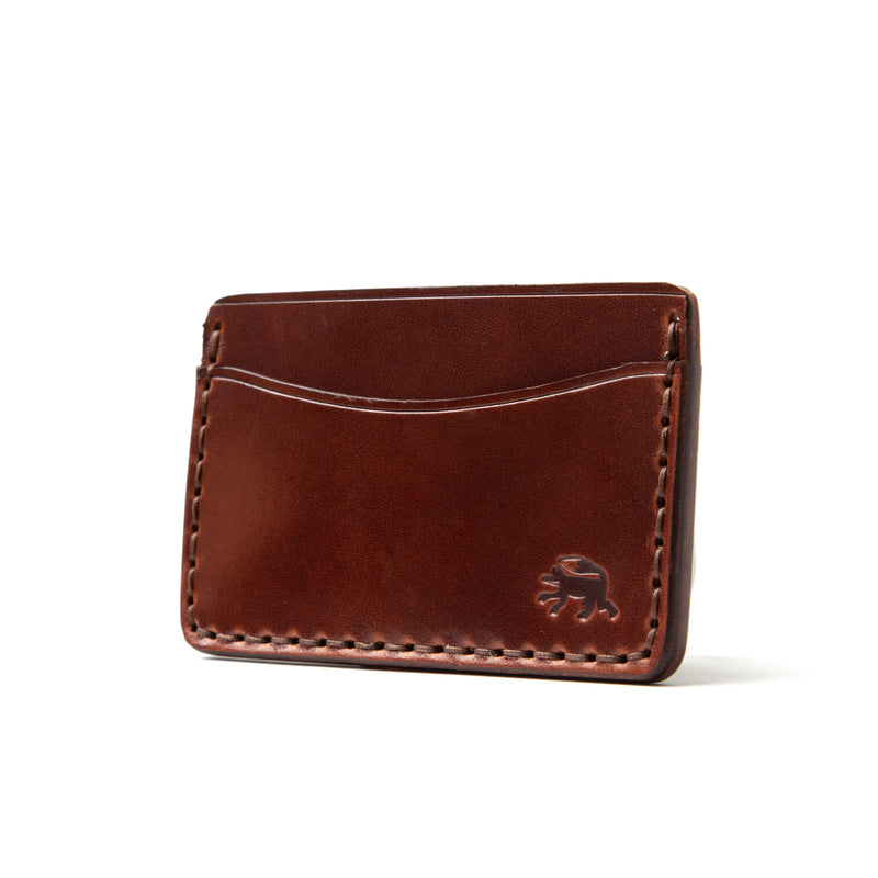 Hand Stitched Card Wallet - Medium Brown