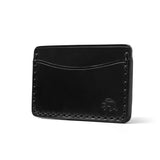 Hand Stitched Card Wallet - Black