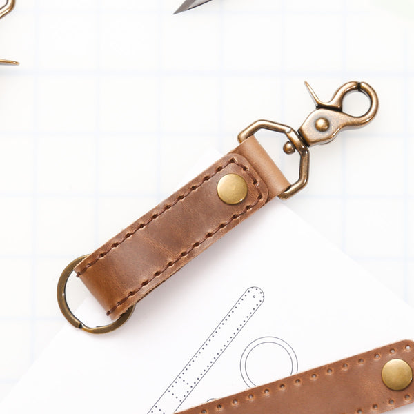 DIY Swivel Snap Key Fob Leather Kit