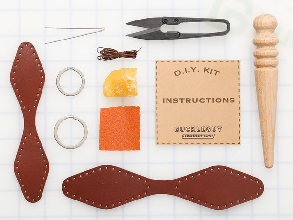 DIY Diamond Key Fob Leather Kit