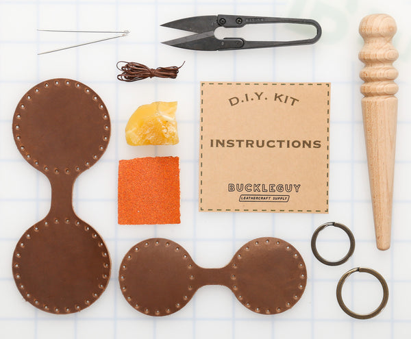 DIY Circle Key Fob Leather Kit