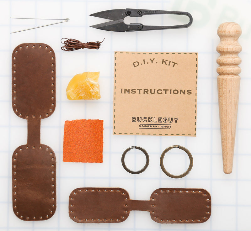 DIY Rectangle Key Fob Leather Kit