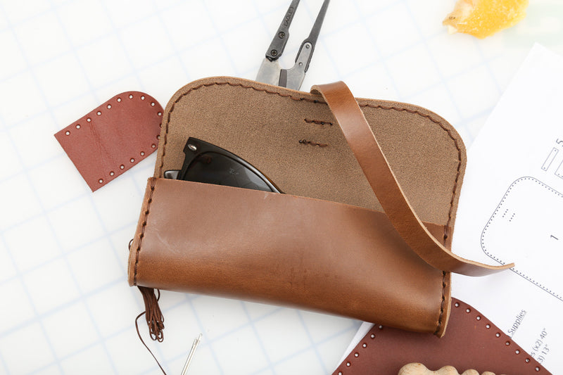 DIY Glasses Case Leather Kit