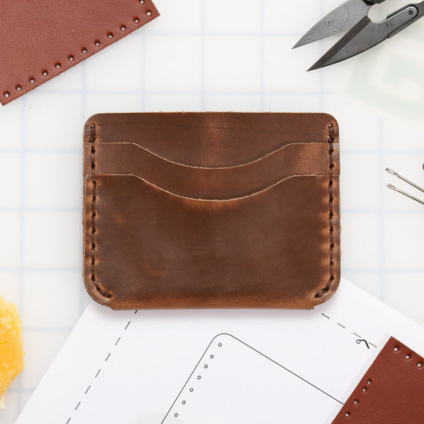 DIY 5-Pocket Foldover Wallet Leather Kit