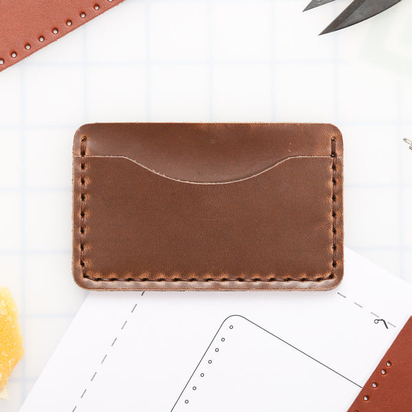 DIY 3-Pocket Wallet Leather Kit