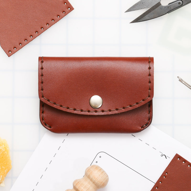 DIY 3-Pocket Snap Wallet Leather Kit