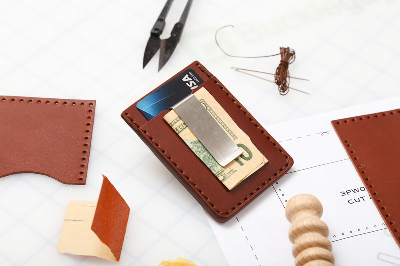 DIY Money Clip Wallet Leather Kit