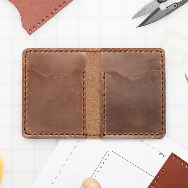 DIY Vertical 4-Pocket Wallet Leather Kit