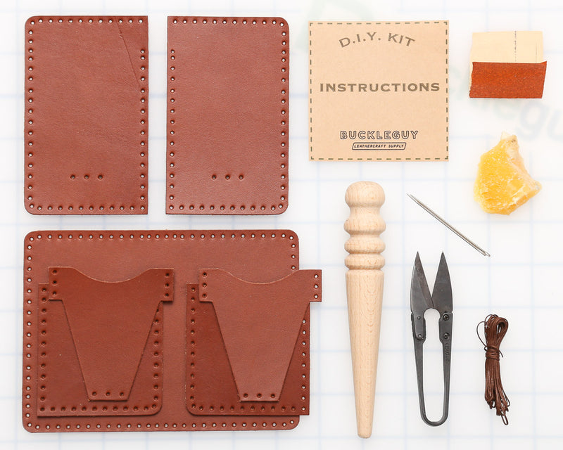 DIY Vertical 6-Pocket Wallet Leather Kit