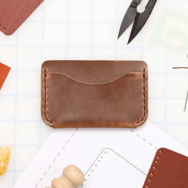 DIY 3-Pocket Foldover Wallet Leather Kit