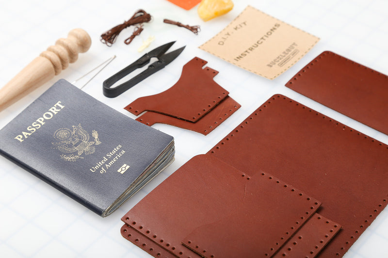 DIY Passport Case Leather Kit